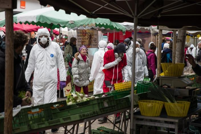 déambulation dans le marché de Chambéry