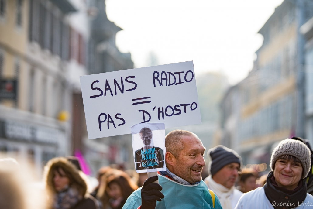 "pancarte ""sans radio=pas d'hosto"