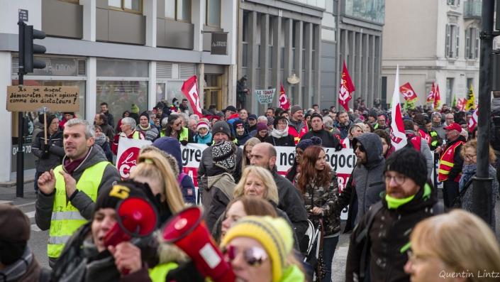 la foule de la manifestation