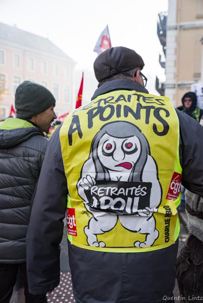 slogan syndicaliste sur gilet