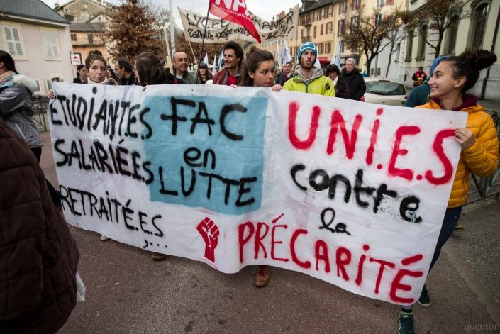 banderole des étudiant.es