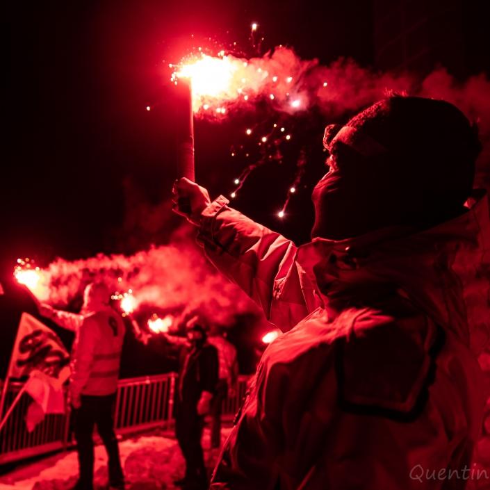 fier de brandir des torches au nivolet
