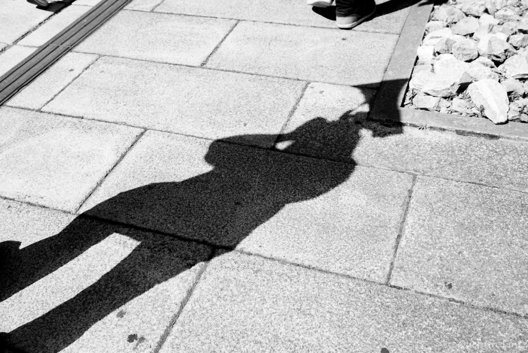 ombre d'une personne avec méga-phone