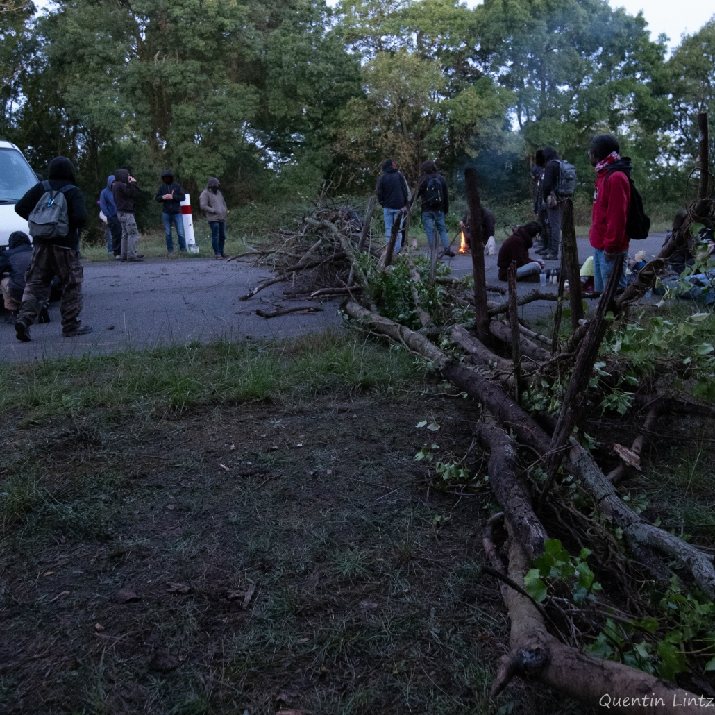 barricade en branches